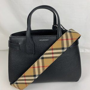 New Burberry Small Banner House Leather Tote